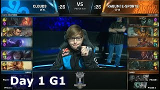 C9 vs KBM   Day 1 Play-In Stage S8 LoL Worlds 2018   Cloud 9 vs KaBuM! e-Sports #Worlds2018