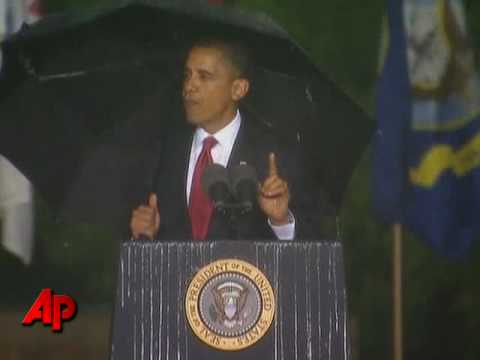 Obama Memorial Day Talk Delayed by Rain