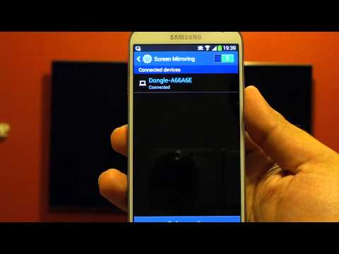 Samsung Galaxy S4 Octa Core - Screen Mirroring with All Share Cast Dongle