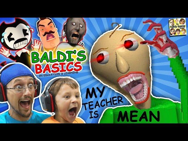 CRAZY SPANKING TEACHER!! Baldi39s Basics in Education amp Learning! FGTEEV Math Game