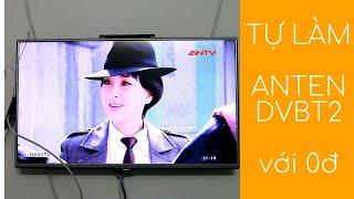 HD tự làm anten thu truyền hình kỹ thuật số DVB-T2 đơn giản nhất (How to make DIY DVB-T2 antenna)