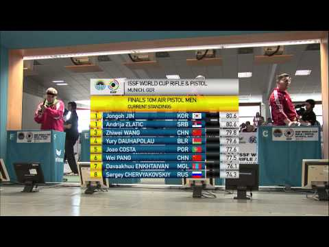 10m Men's Air Pistol final - Munich 2013 ISSF World Cup