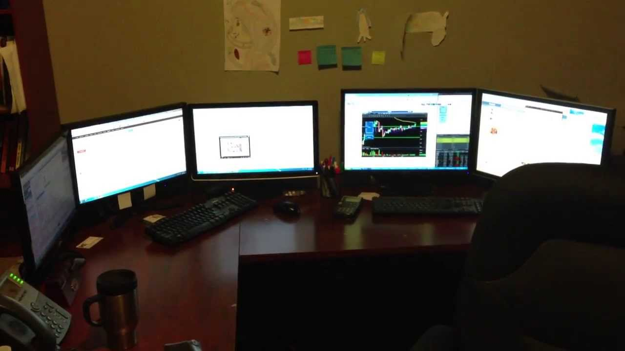 My Trading Desk Amp Opinion Of Multi Monitor Set Ups Youtube