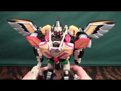 Power Rangers Mystic Force Titan Megazord Review (Magiranger Magiking magidragon mystic dragon)