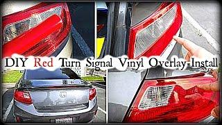 Download DIY: Red Tailight Turn Signal Vinyl Overlay Instruction -DiycarModz 3Gp Mp4