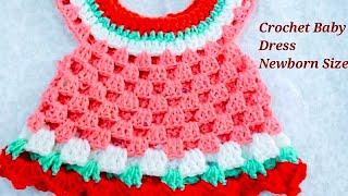 How to make a crochet baby dress{newborn size}-2