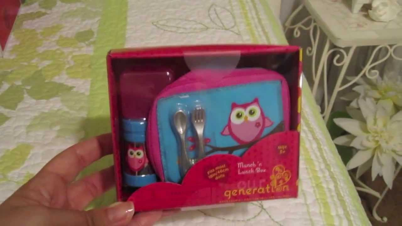 Opening an Our Generation Lunch Set (American Girl Doll ...
