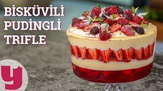 Bisküvili Pudingli Trifle Tarifi (Katlanarak Artan Keyif!)   Yemek.com