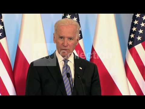 POLAND:BIDEN - RUSSIA LAND GRAB IN CRIMEA