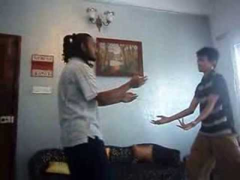 southern praying mantis kung fu India: light spar/play