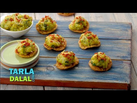 Crispy Puri Topped with Masala Aloo by Tarla Dalal