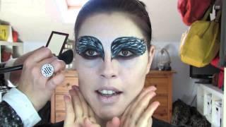 Maquillaje de Cisne Negro Black Swan