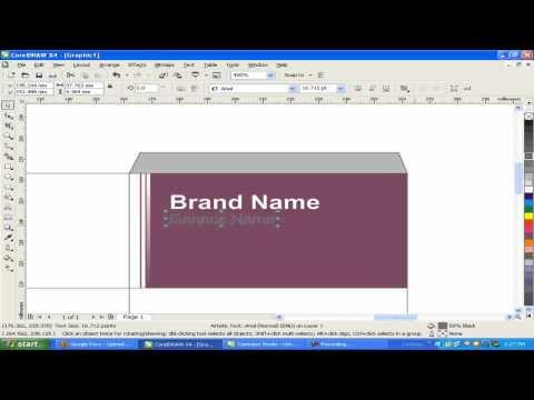 how to design(make)medicine box in CorelDraw.mp4
