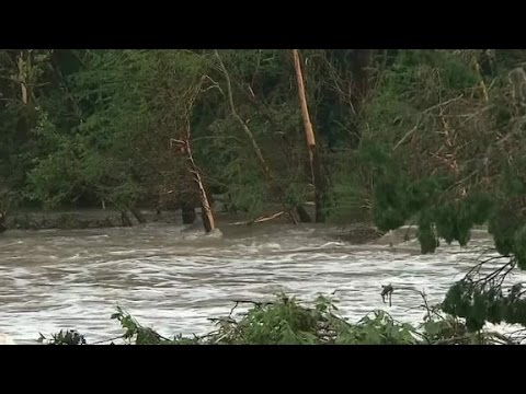 Family gets swept away by flood