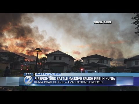 Firefighters contain 200-acre brush fire in Kunia, no damage, injuries reported