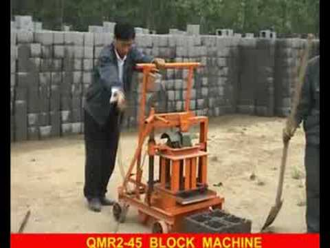 QMR2-45 small mobile/movable/block forming machine