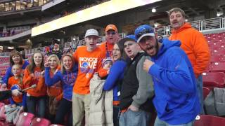 video The Boise State University Broncos have an amazing fan base throughout the United States. Watch the BSU fans' excitement progress as the Broncos win their third Fiesta Bowl Championship!