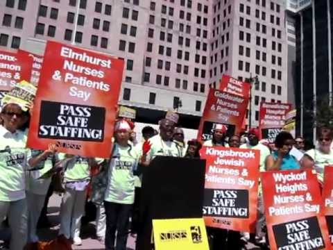 Nurses Demand that the New York State Legislature Pass a Safe Staffing Bill