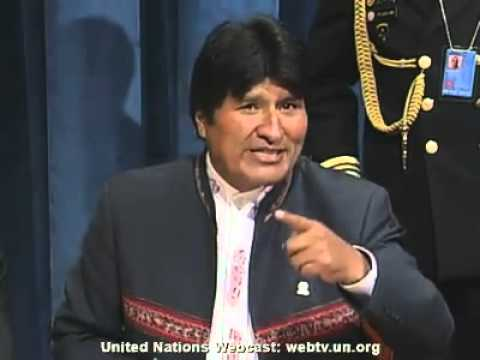 President Evo Morales Denounces IMF, CNN & Old Order at United Nations