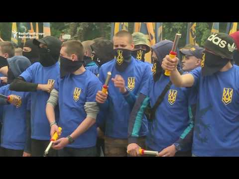 Ukrainian Nationalists Protest Against Elections in Rebel-Held East
