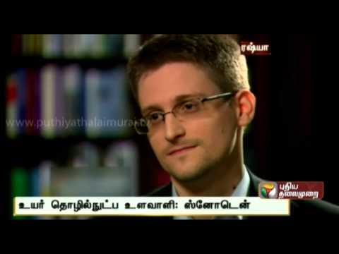'I Was Trained as a Spy' : Edward Snowden