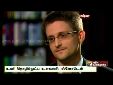 'I Was Trained as a Spy' : Edward Snowden