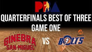 GINEBRA VS MERALCO JULY 2018 GAME ONE PBA PLAYOFFS
