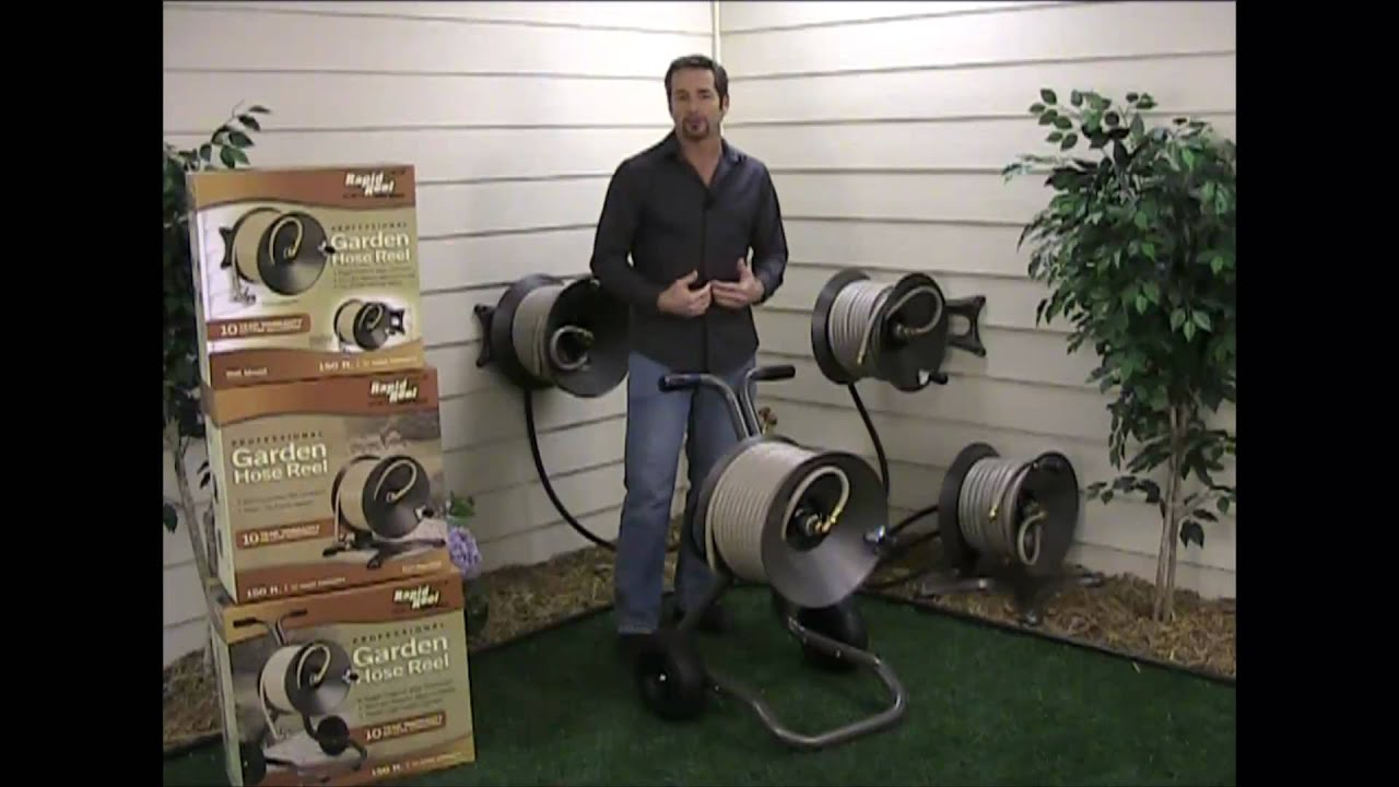 how to use gerni hose reel