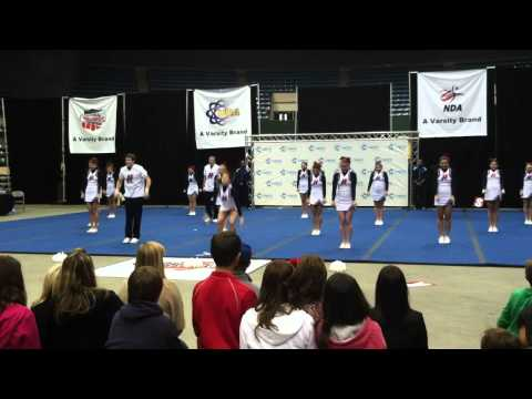 Hancock High School Varsity cheerleading squad at the 2011 Mississippi State ...