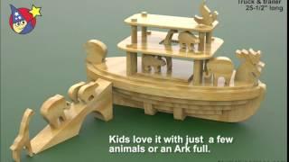 Wood Toy Plans - Noahs Animal Cracker Ark