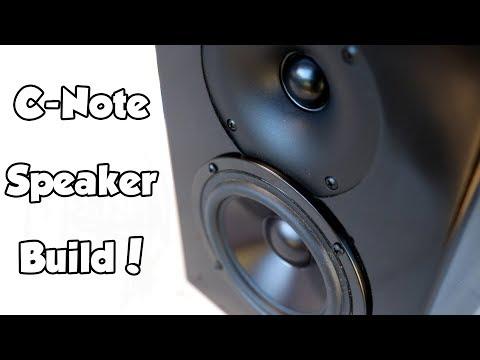 Dayton Audio C-Note Bookshelf Speaker Kit Build!