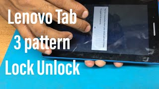 Lenovo Tab 3 Pattern Lock Unlock Lenovo TB3-710F Pattern unlock and hard reset . GSMAN ASHIQUE