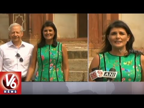 US Envoy To UN Nikki Haley Visits India To Boost Indo-US Ties | Delhi | V6 News