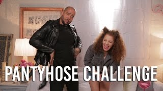 Pantyhose Challenge with 8ky 6lu | Music Monday with Mahogany LOX