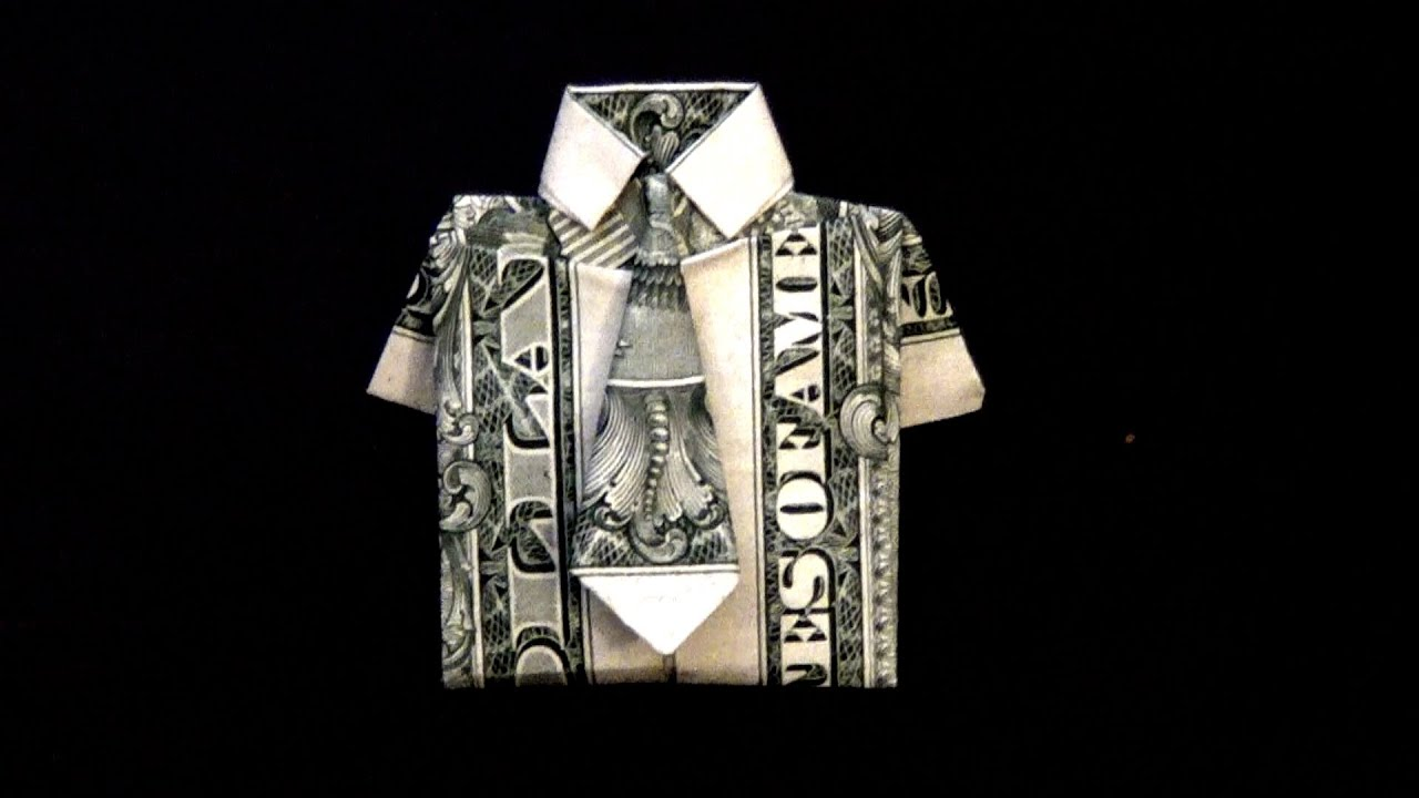 Money Origami Shirt Tie How To Video