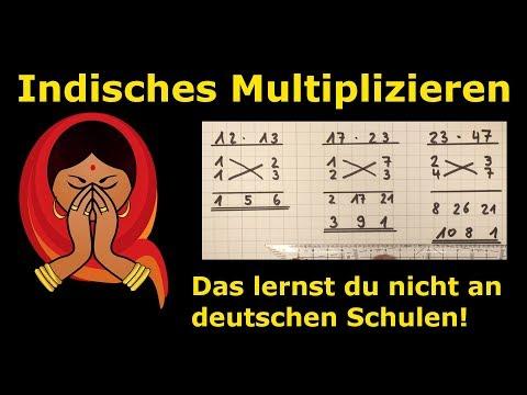indisches Multiplizieren   geheime Lehrermethoden   Mathematik   Lehrerschmidt - einfach erklärt!