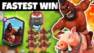 The WORLDS FASTEST WIN in Clash Royale HISTORY!