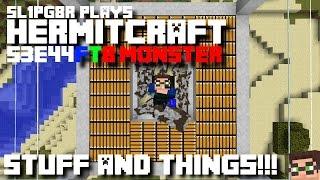 Minecraft FTB Monster - STUFF AND THINGS!!! ( Modded Minecraft Hermitcraft S3E44 )