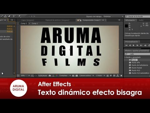 After Effects 082 Texto dinamico efecto bisagra