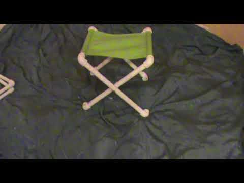 Раскладной стульчик из ПВХ труб своими руками (+ ФОТО)