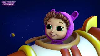 Twinkle Twinkle Little Star Space Race - Learn Shapes - Songs for Baby - Finger Family Song