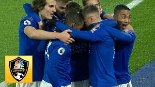 Jamie Vardy scores penalty to put Leicester in front of Watford | Premier League | NBC Sports
