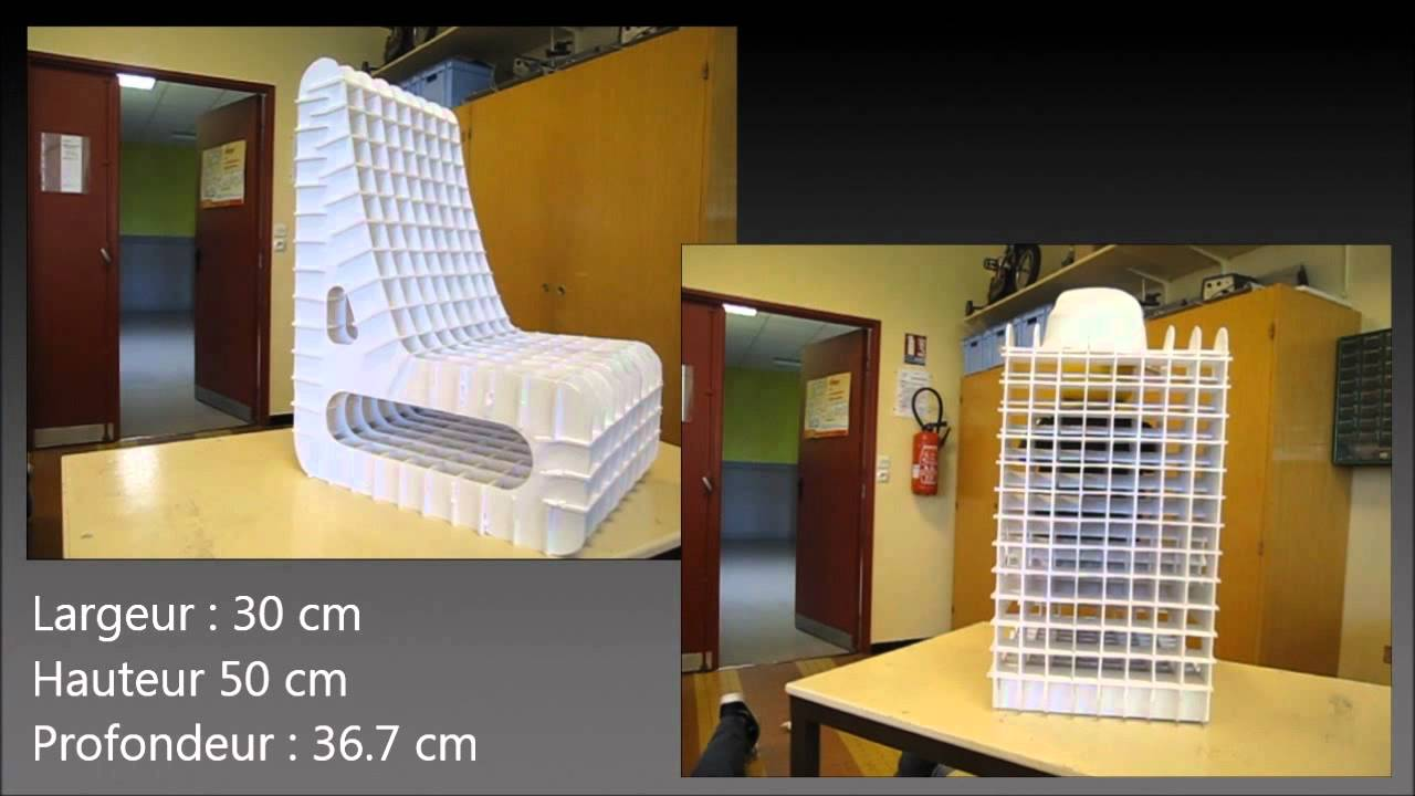 Conception d 39 une chaise en carton youtube for Rempaillage d une chaise