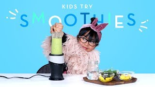 Kids Try Smoothies From Around The World | Kids Try | HiHo Kids