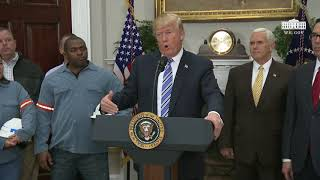 President Trump Signs the Section 232 Proclamations on Steel and Aluminum Imports