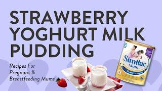 Strawberry yogurt milk pudding by @lirongs