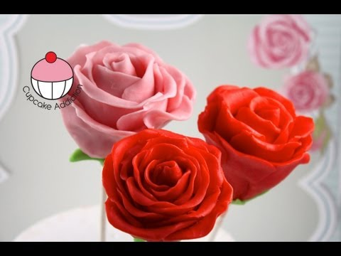 VALENTINES Rose Flower Cakepops - MyCupcakeAddiction & Yoyomax12 Cake Pop Collaboration!