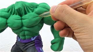 Tutorial Escultura de HULK Avengers End Game Plastilina |  Sculpting HULK in Clay | Vengadores