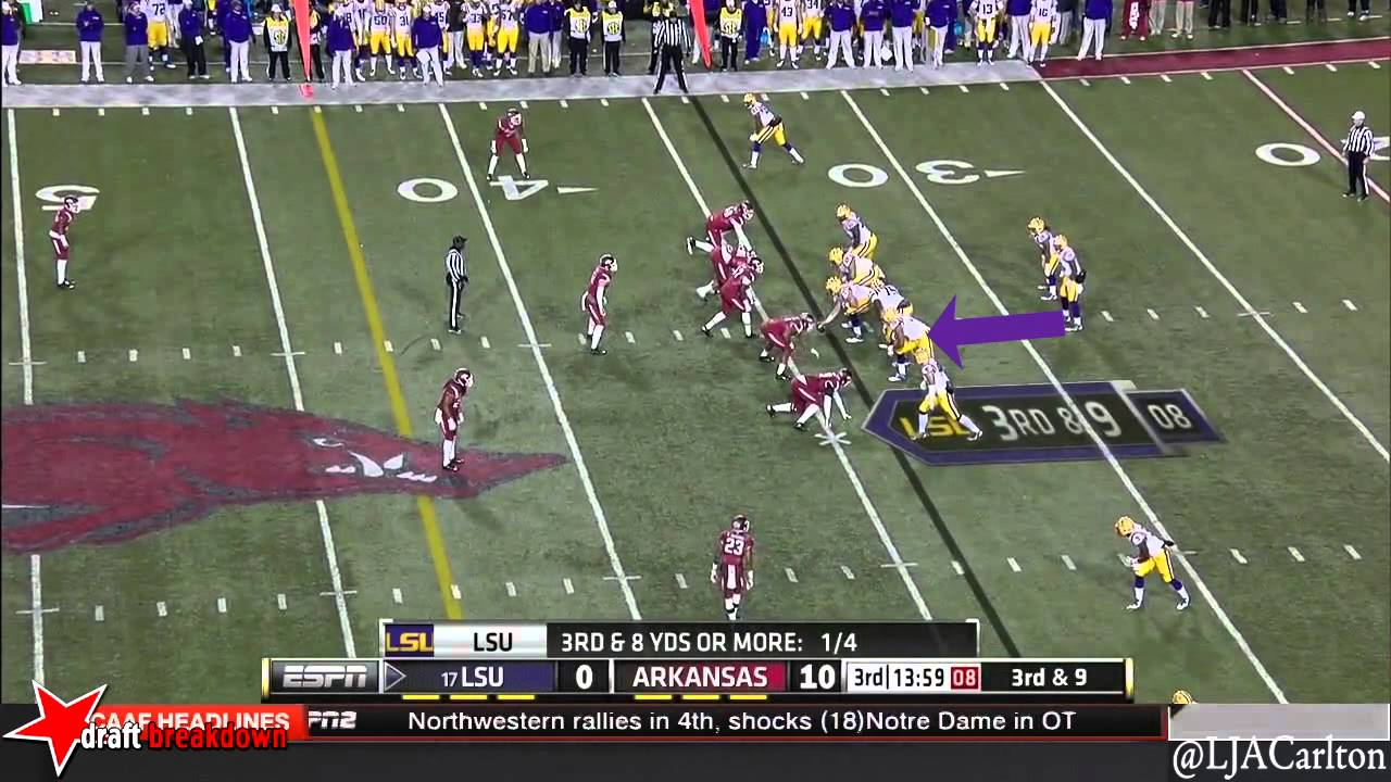 La'el Collins vs Arkansas (2014)