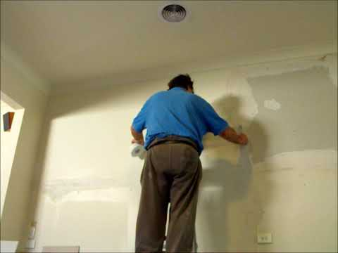 Large plasterboard wall repair ~ Hawthorn Plaster Repairs
